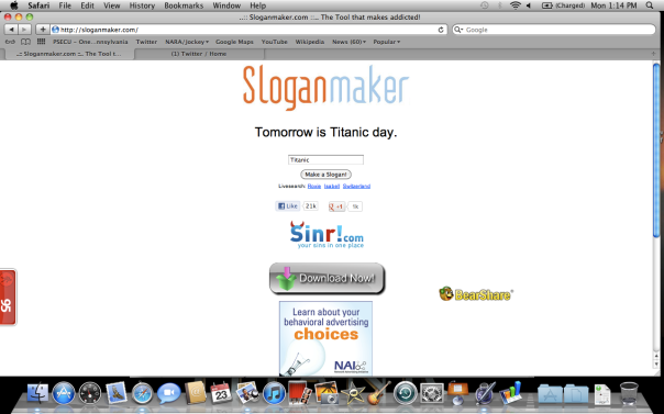 Yes, Sloganmaker.